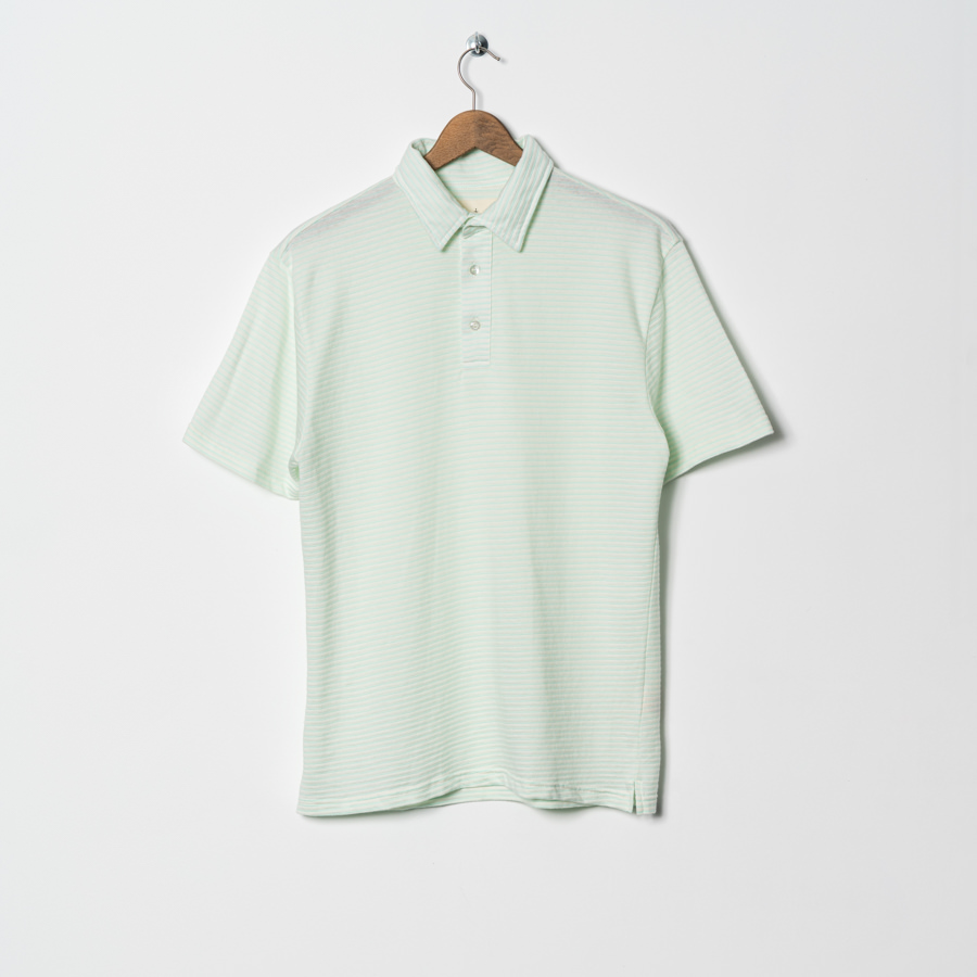 La Paz Polo Lime groen streep relax fit